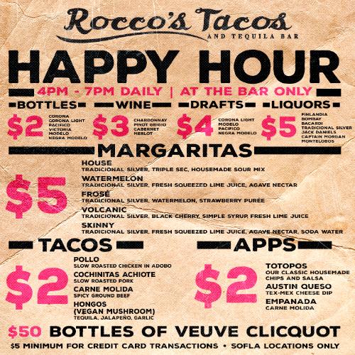 Rocco's Tacos Happy Hour