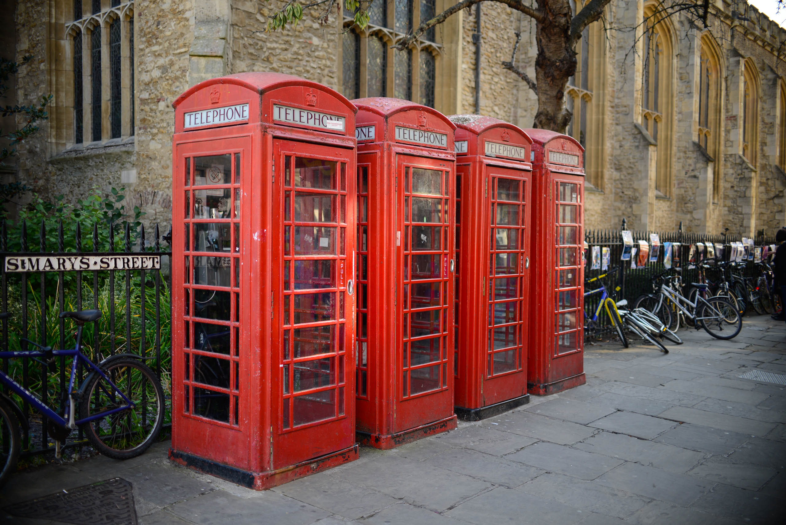 Telephone boxes Cambridge