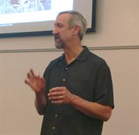 Photo of the seminars' speaker, Peter de Groot