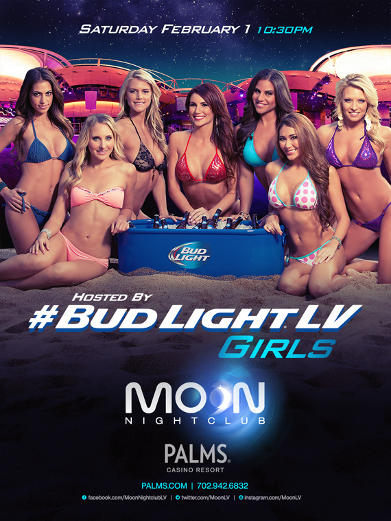 Moon Nightclub Hosted by #Budlightlv Girls