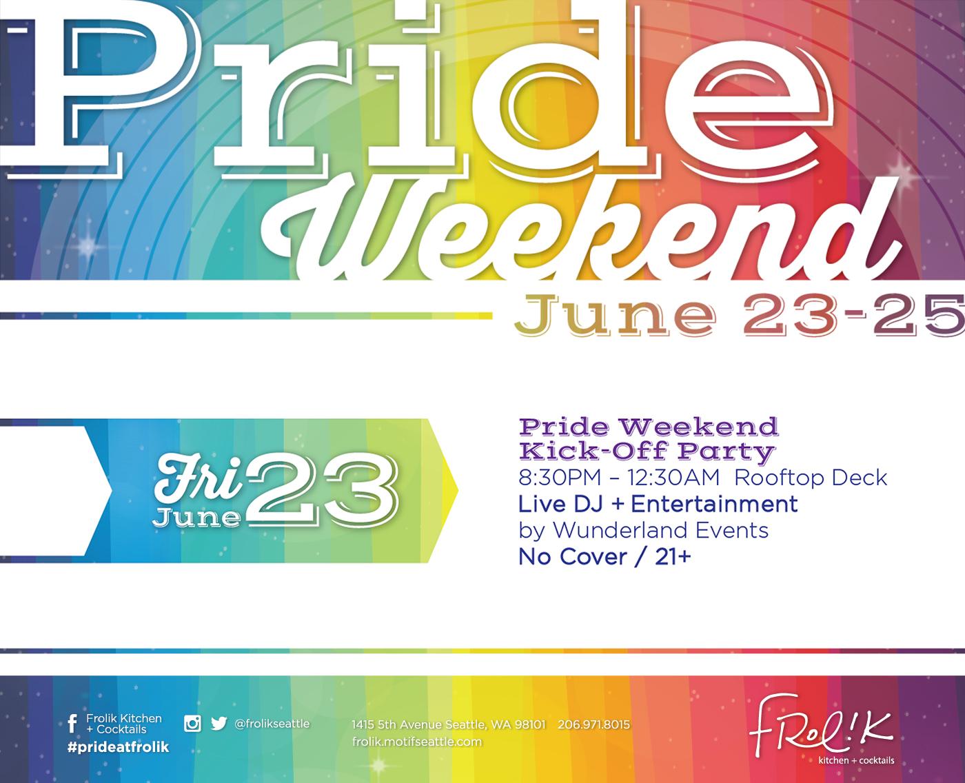 Pride Weekend June 23