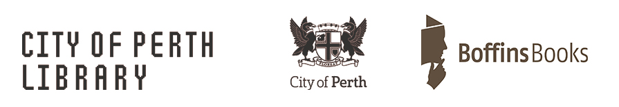 City of Perth Library and Boffins Books logos
