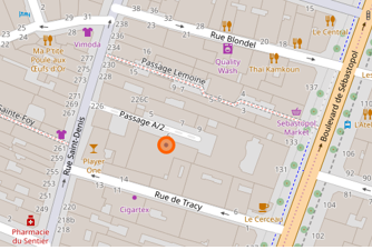 Localisation de la Paillasse sur OSM