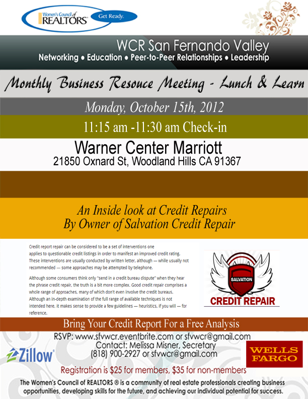 WCR September Lunch & Learn Flyer