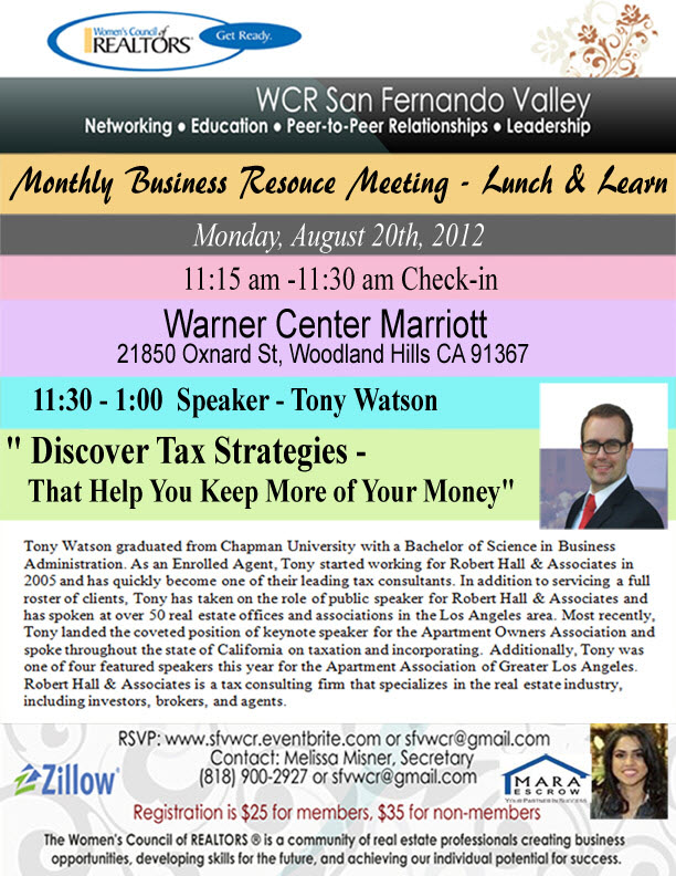 August WCR Business Lunch & Learn