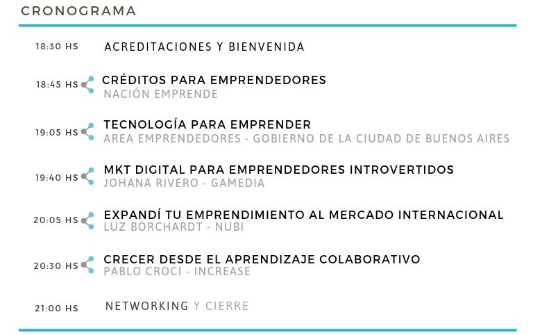 Foro de emprendedores 2019 - CHARLAS