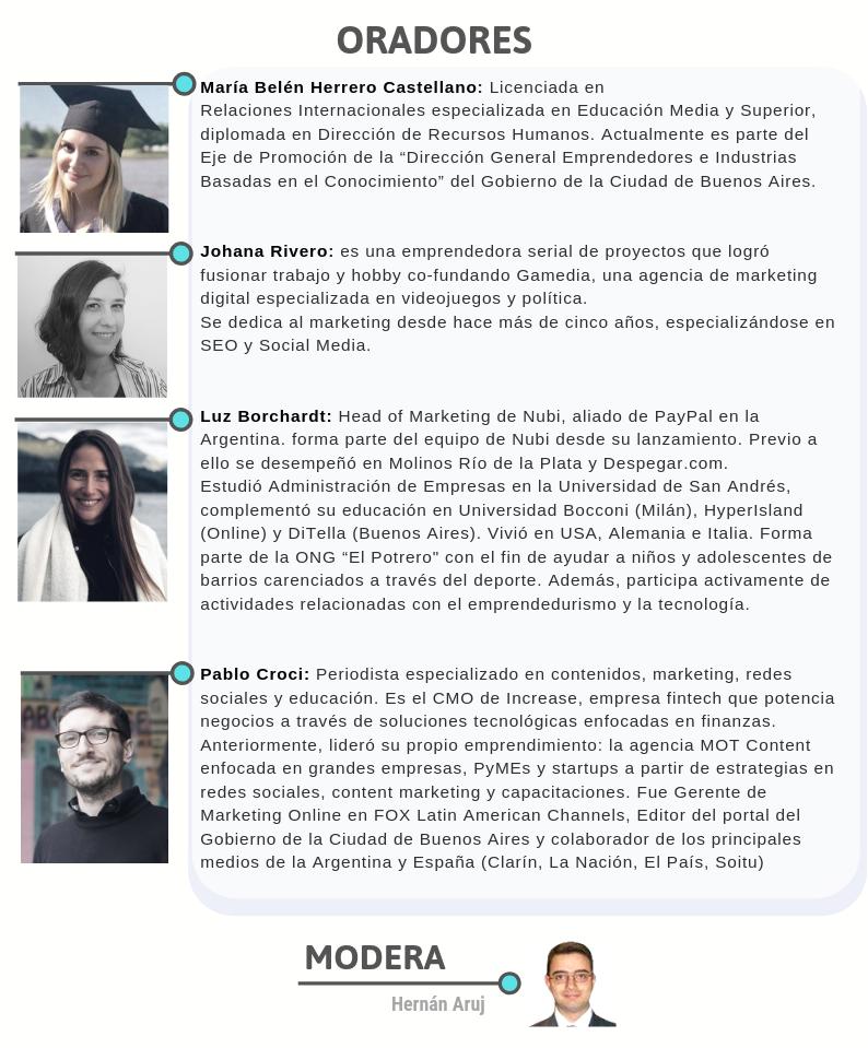Foro de emprendedores 2019 - ORADORES