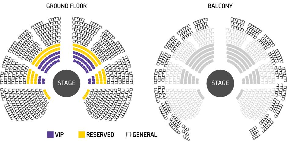 hillside seating chart