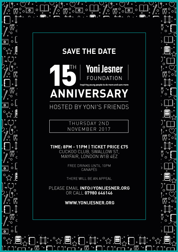 Yoni Jesner 15th Anniversary London Friends Event
