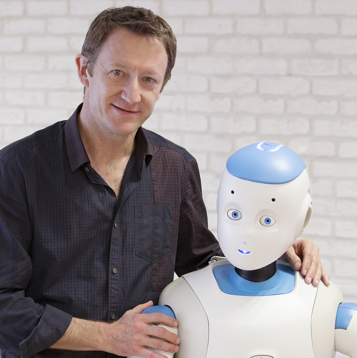 Image of Rodolphe Gelin and ROMEO Robot