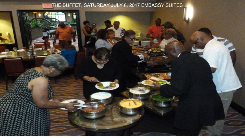 Buffet Dinner Embassy Suites Arboretum 2017 Reunion