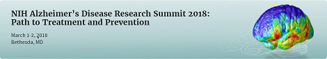2018 NIH Alzheimer's Disease Research Summit Program Banner