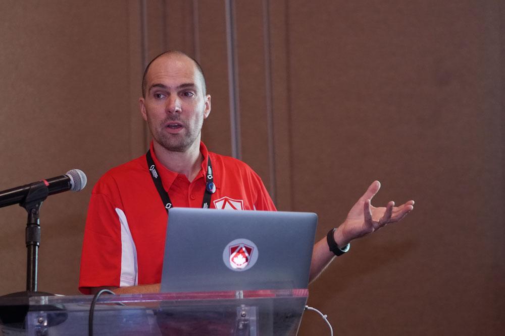 Laurent Duveau during a workshop session