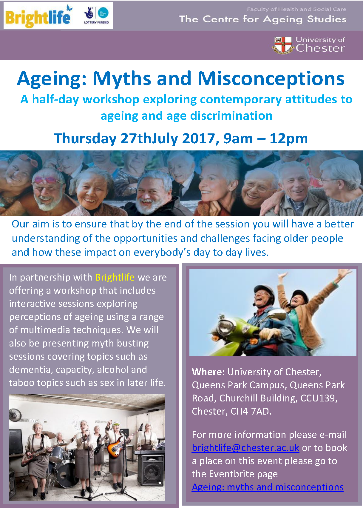 Ageing workshop poster