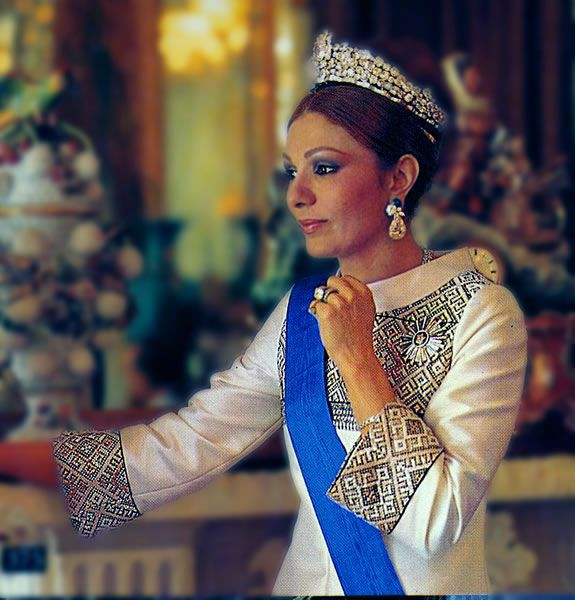 Official wardrobe of Empress Farah Pahlavi designed by Keyvan Khosrovani