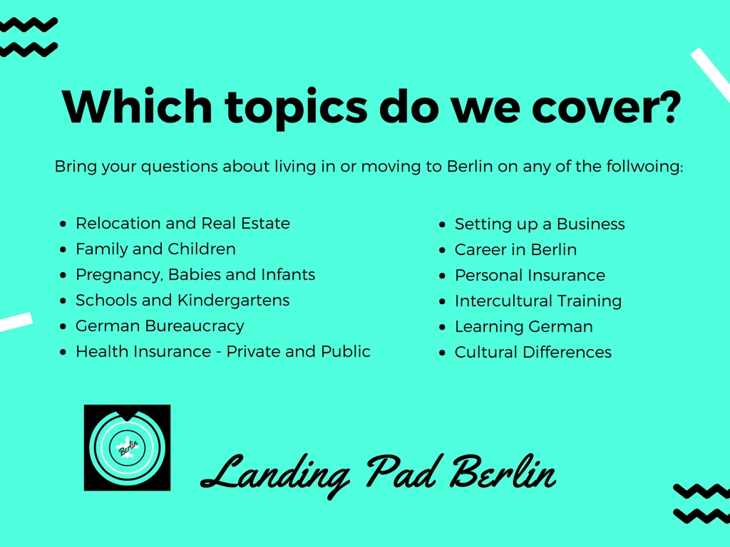 Topics Covered at the Landing Pad Berlin