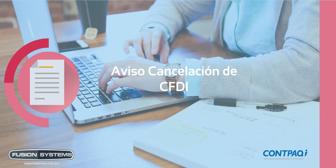 Aviso de Cancelación CDFI