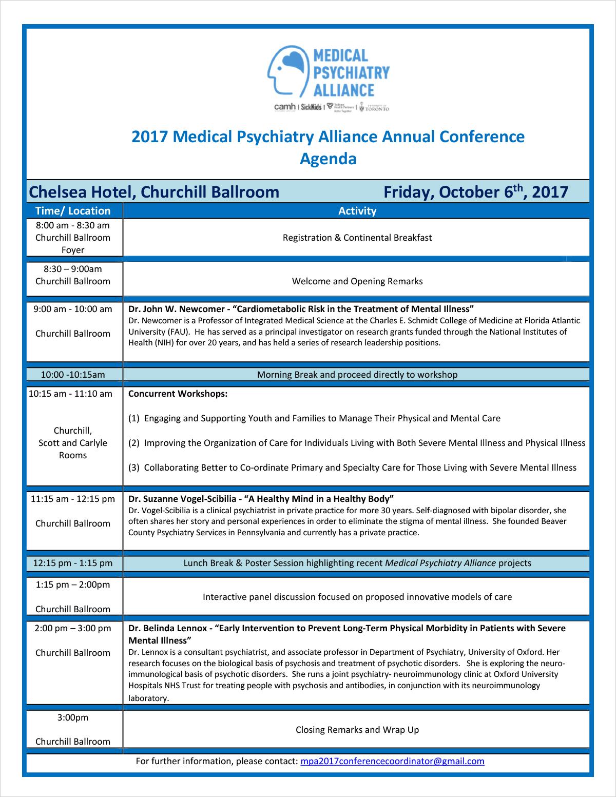 MPA 2017 Annual Conference Agenda