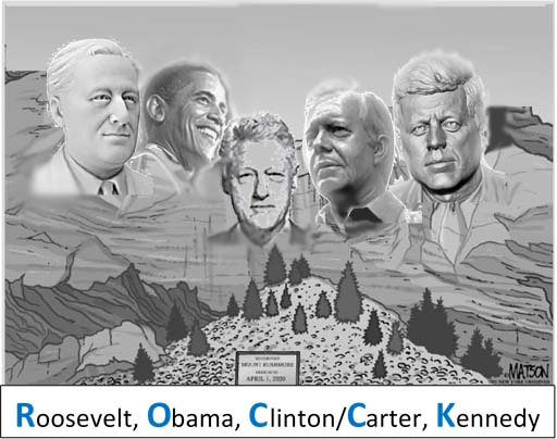Mt. Rushmore Roosevelt. Obama, Clinton, Carter, Kennedy