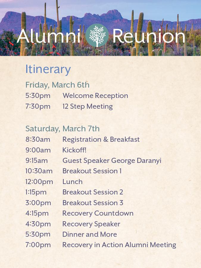 Reunion Itinerary