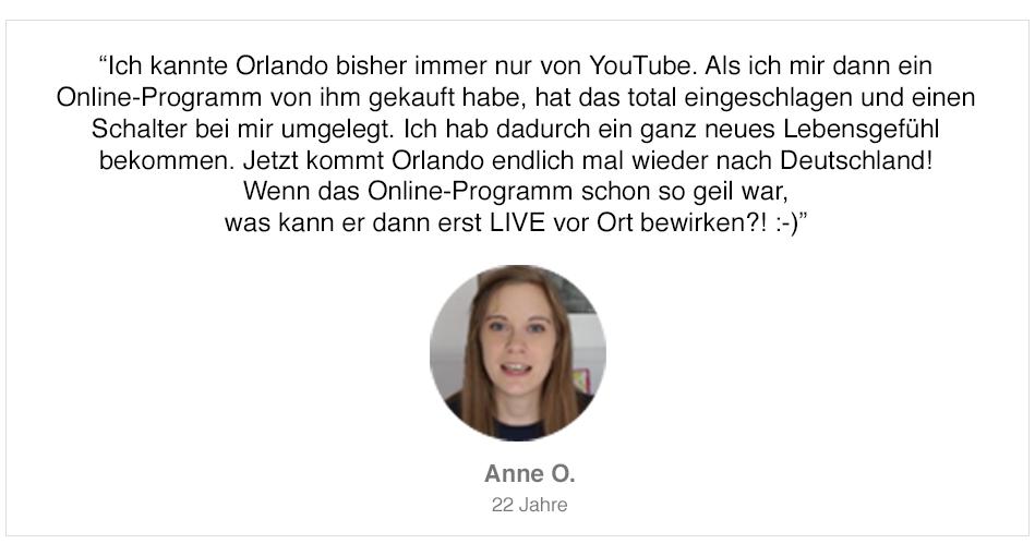 Teilnehmerstimme von Anne