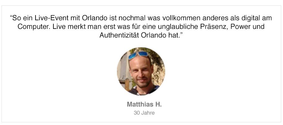 Teilnehmerstimme von Matthias