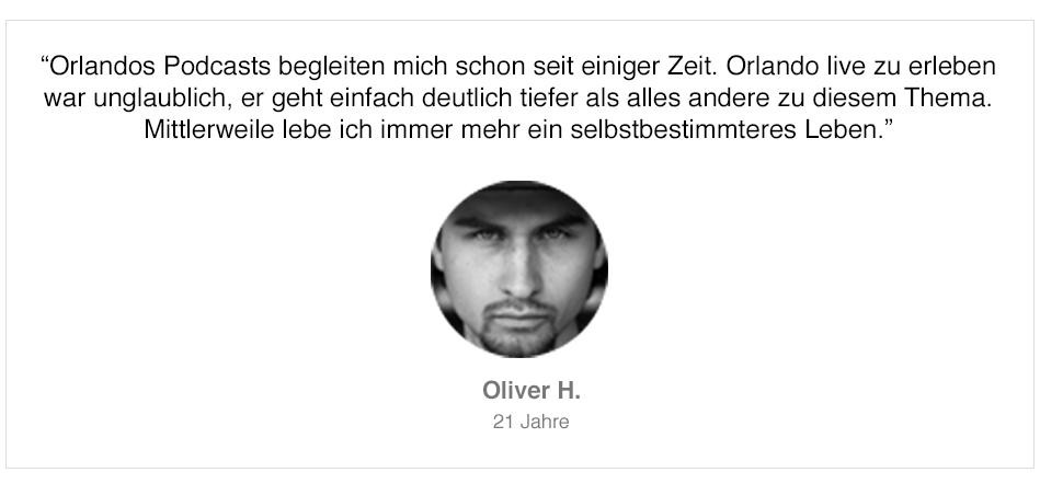 Teilnehmerstimme von Oliver