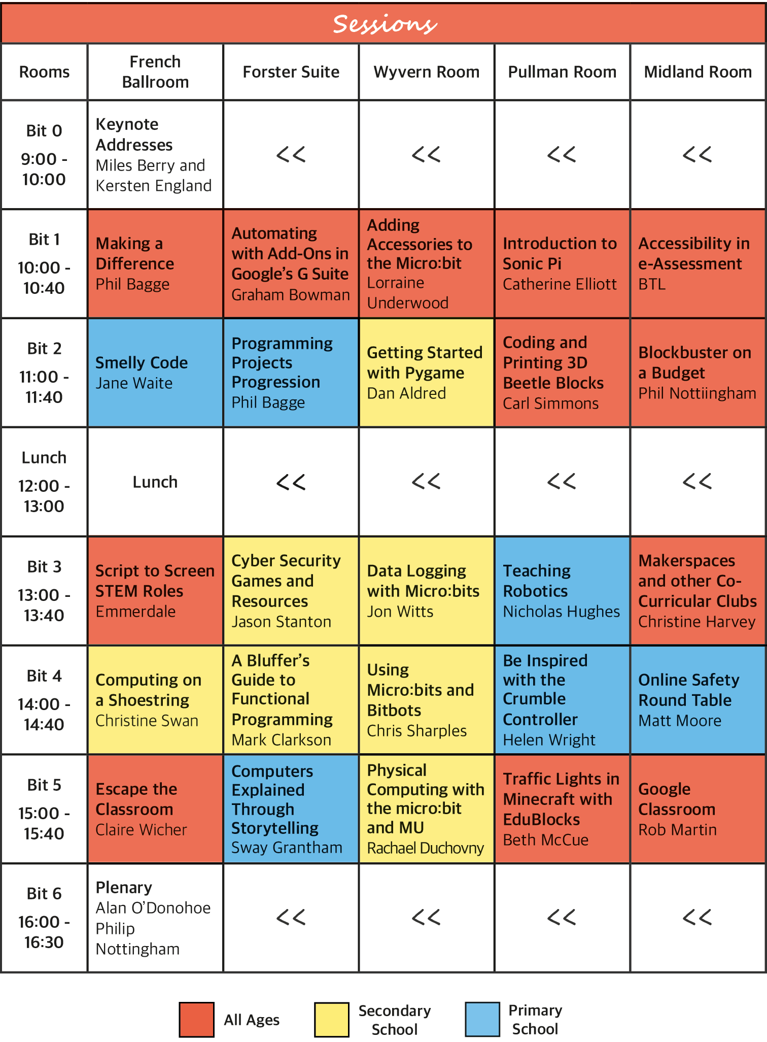 Our full timetable for #exabytes18 - head over to exa.is/schedule for a more in-depth read!