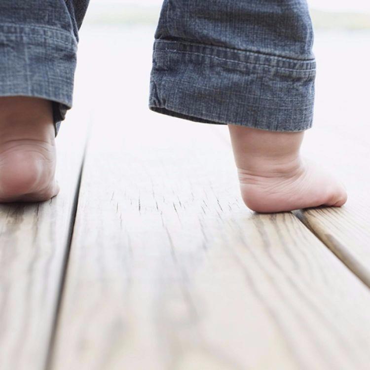 Baby walking feet