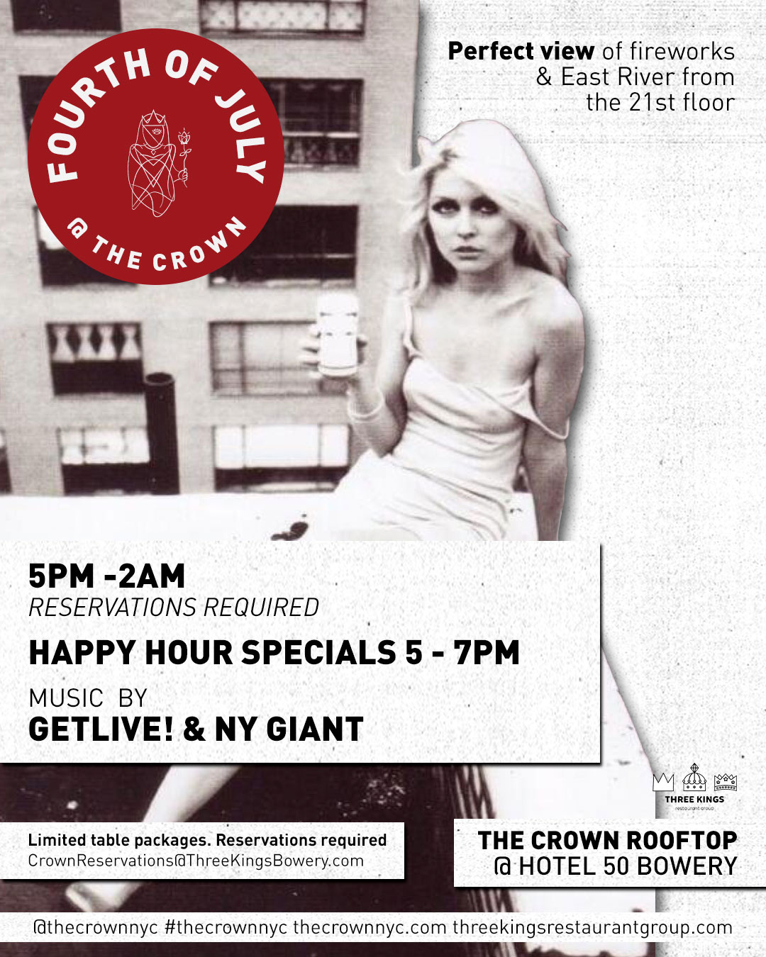 4th of July at the Crown Rooftop bar and lounge