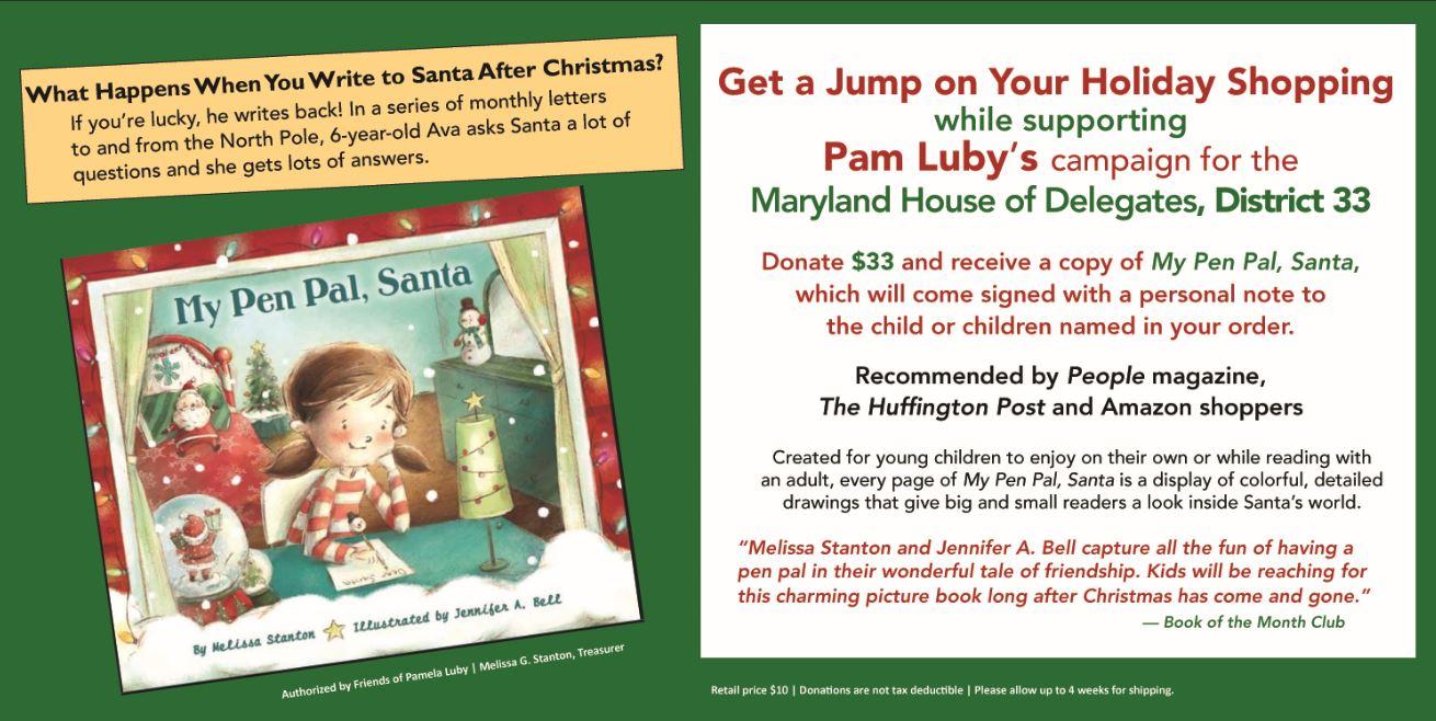 My Pen Pal Santa for Pamela Luby Campaign