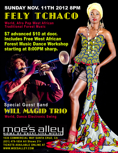 Fely Tchaco live Moe's Alley
