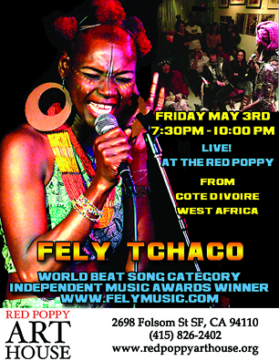 Fely Tchaco live at Red Poppy Art House