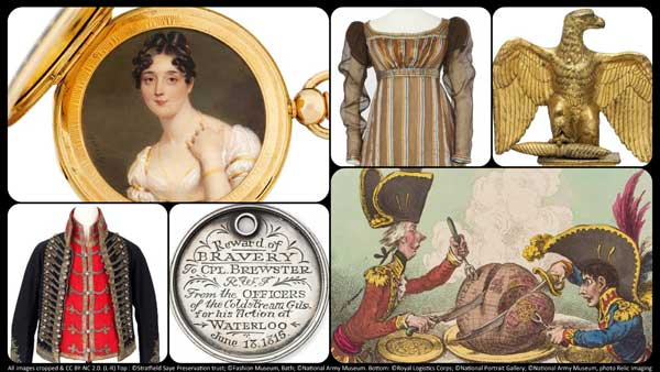 collage of colelction objects relating to the Napoleonic Wars and the age of revolution
