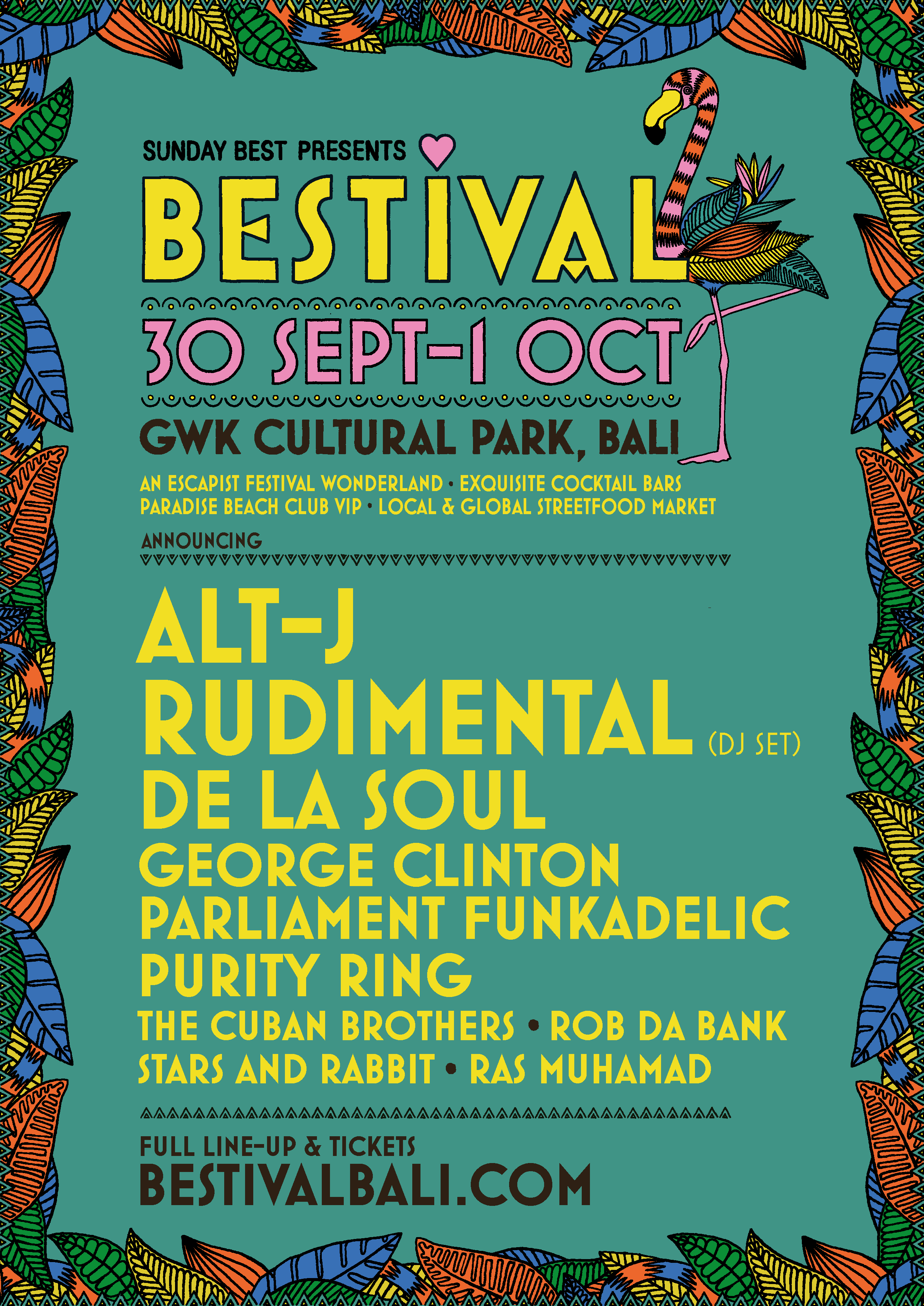 Bestival Bali Line-up