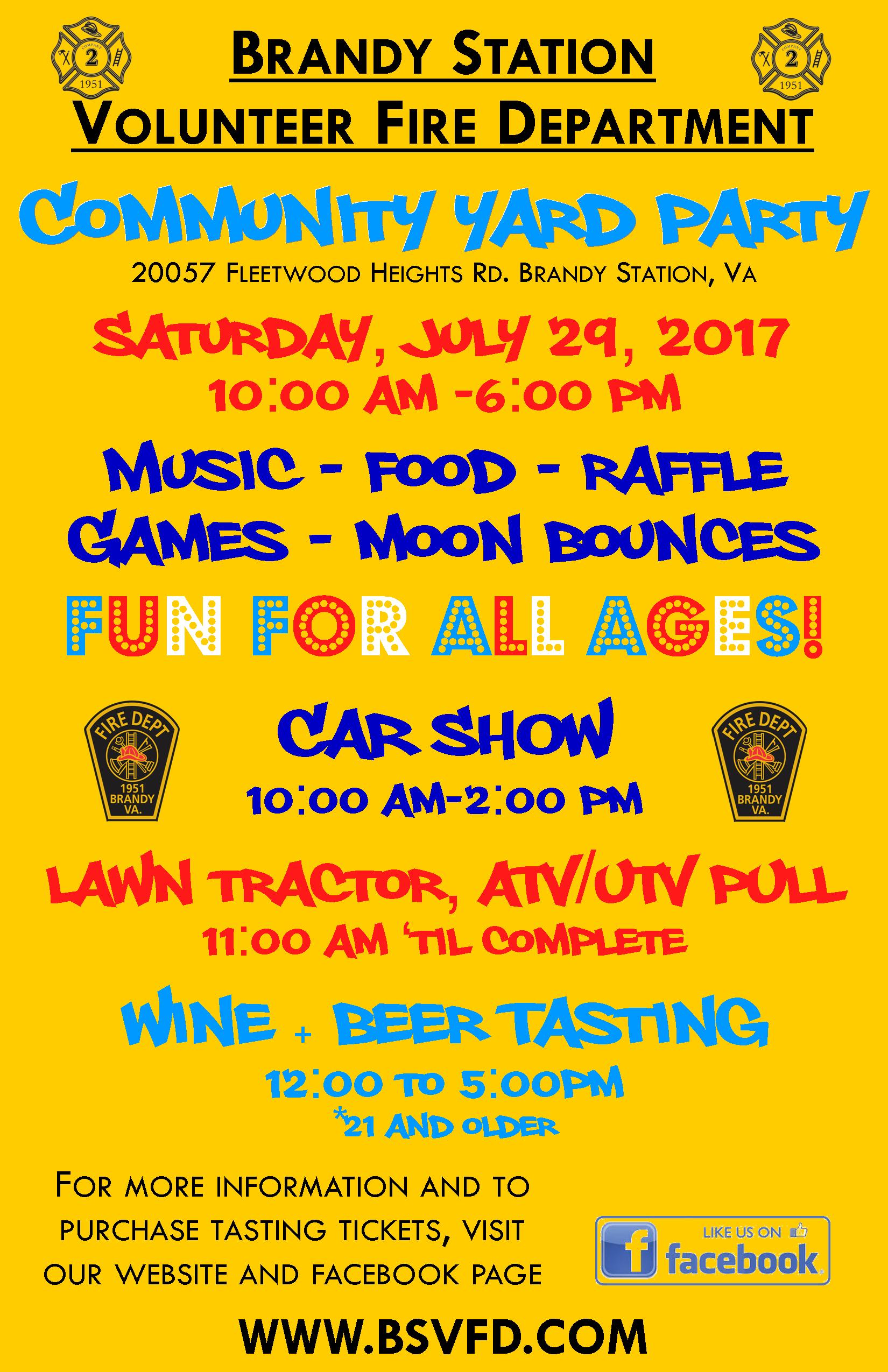 Community Yard Party Flyer