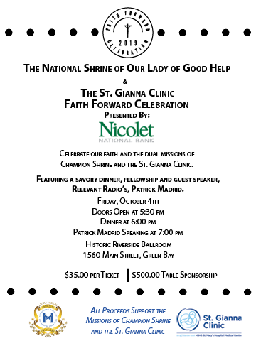 2019 Faith Forward Celebration Invitation