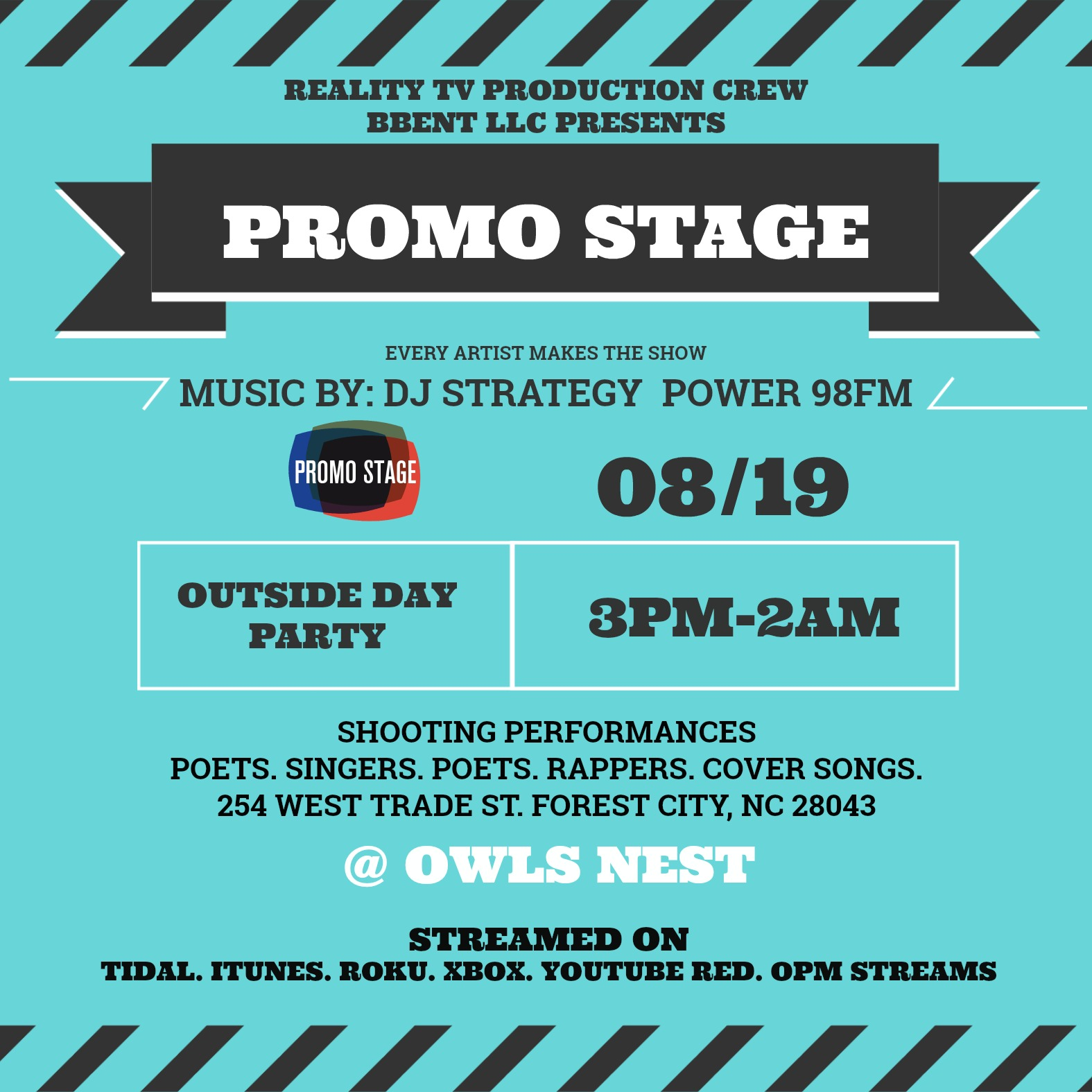 Promo Stage NC front