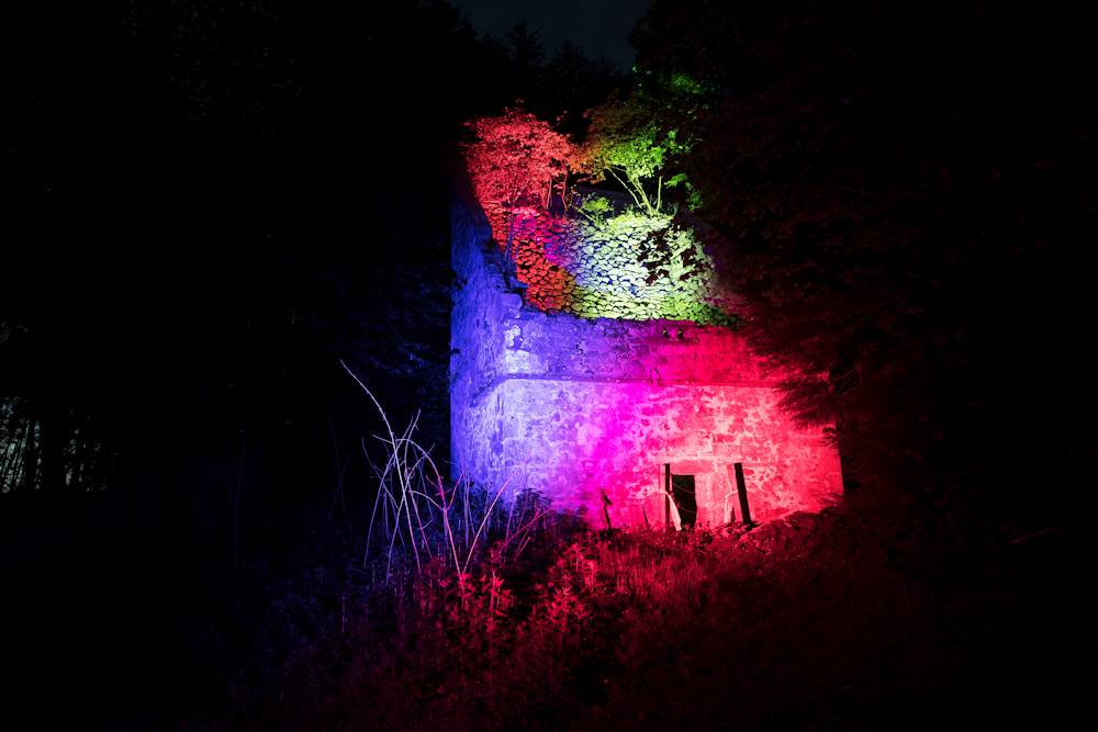 Tullibole Trail lit up dovecot