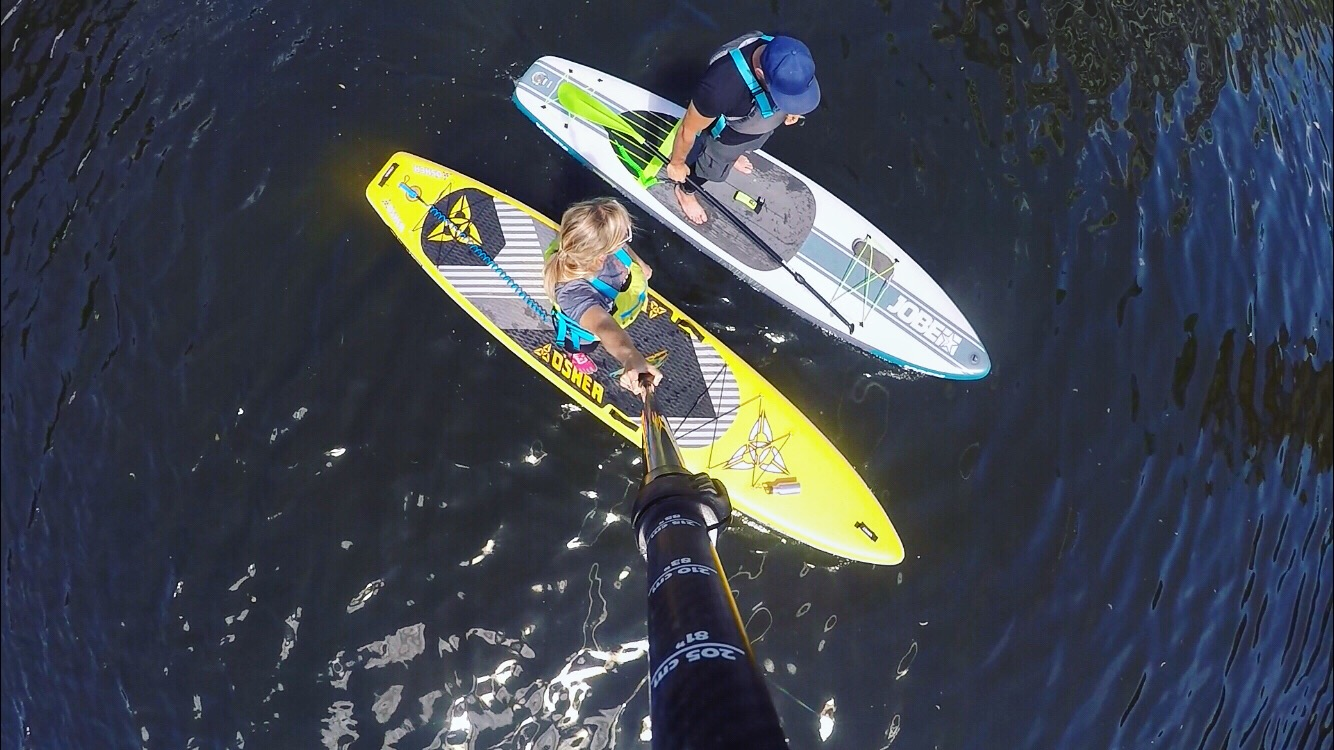 Paddleboarders in Cardiff Bay