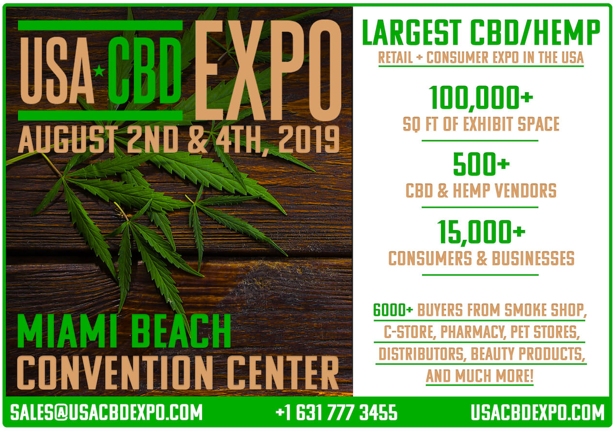 USA CBD Expo 2019 Graphic - Miami Beach Florida