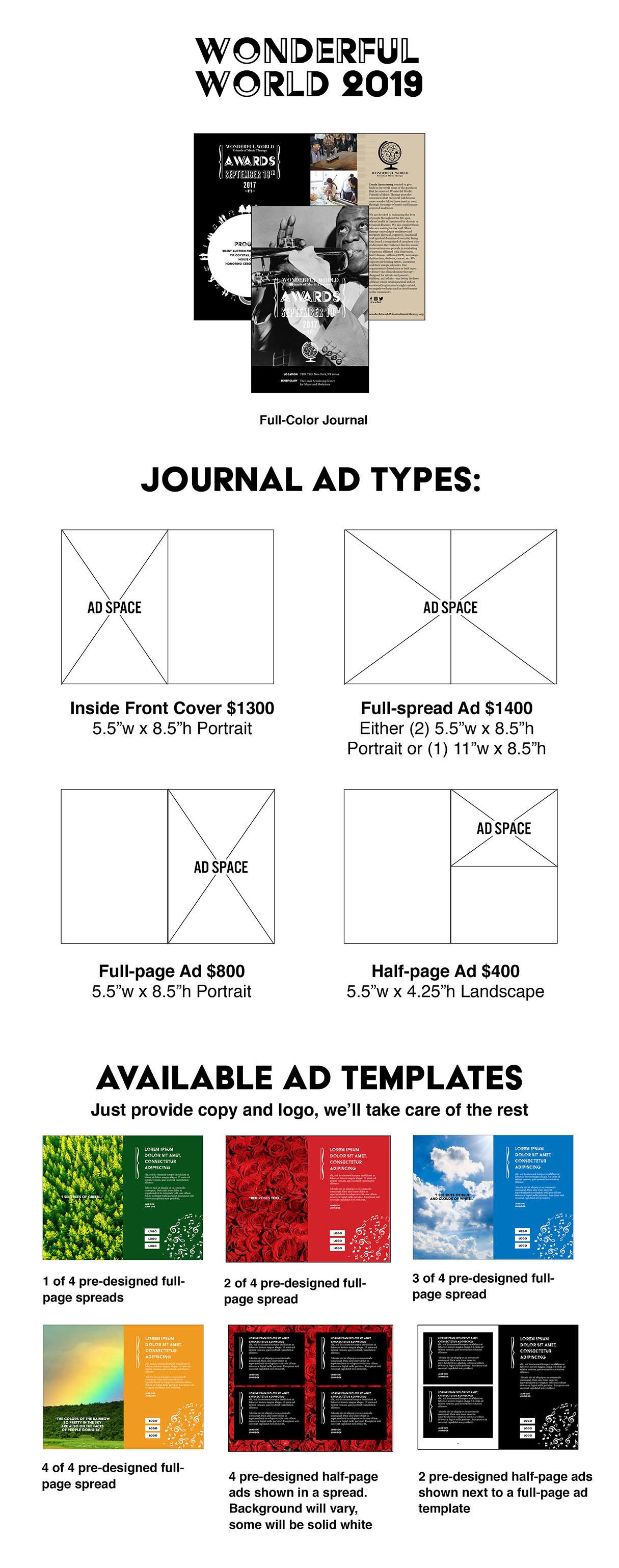Wonderful World 2019 Journal Ads Overview