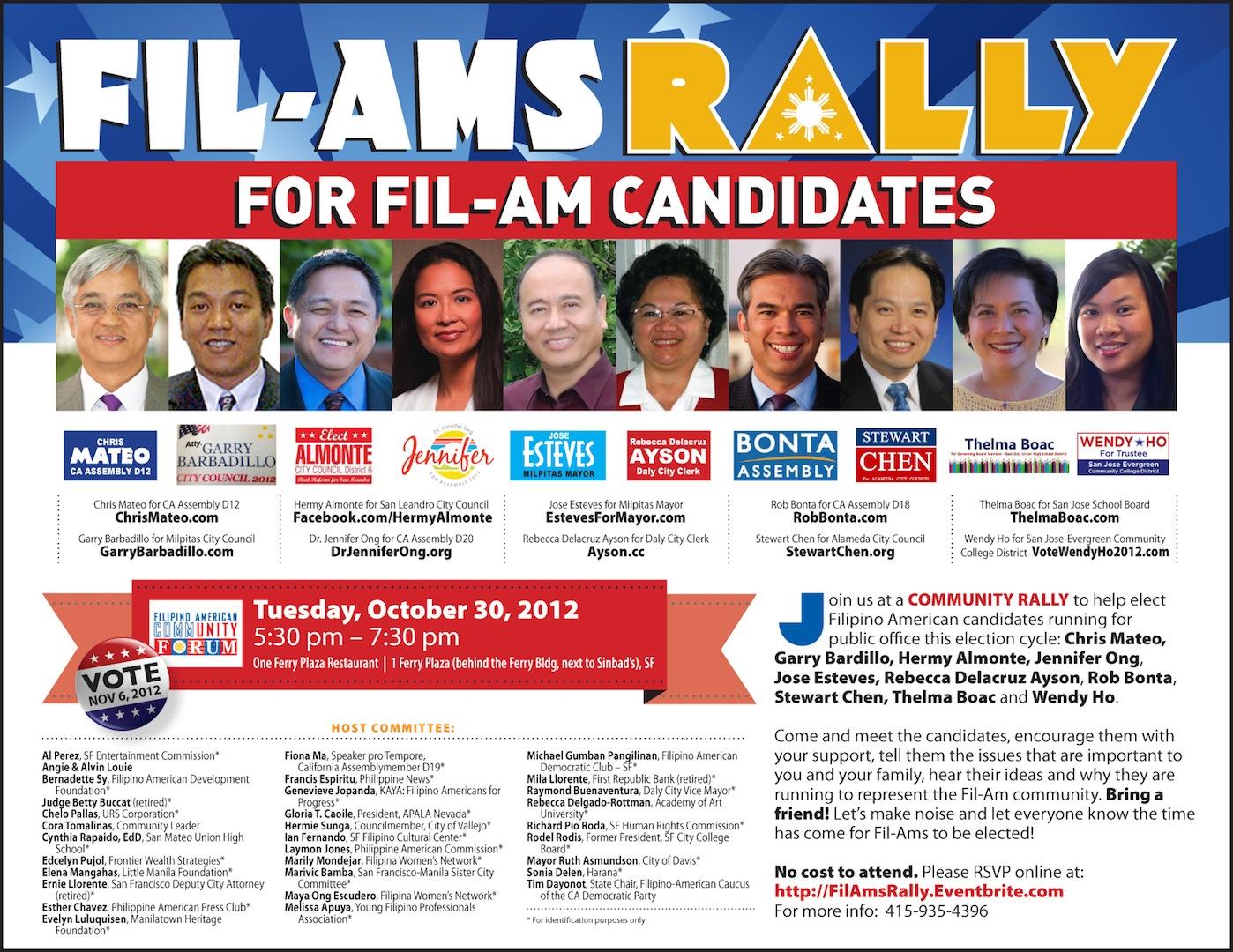 FilAms Rally FilAm Candidates