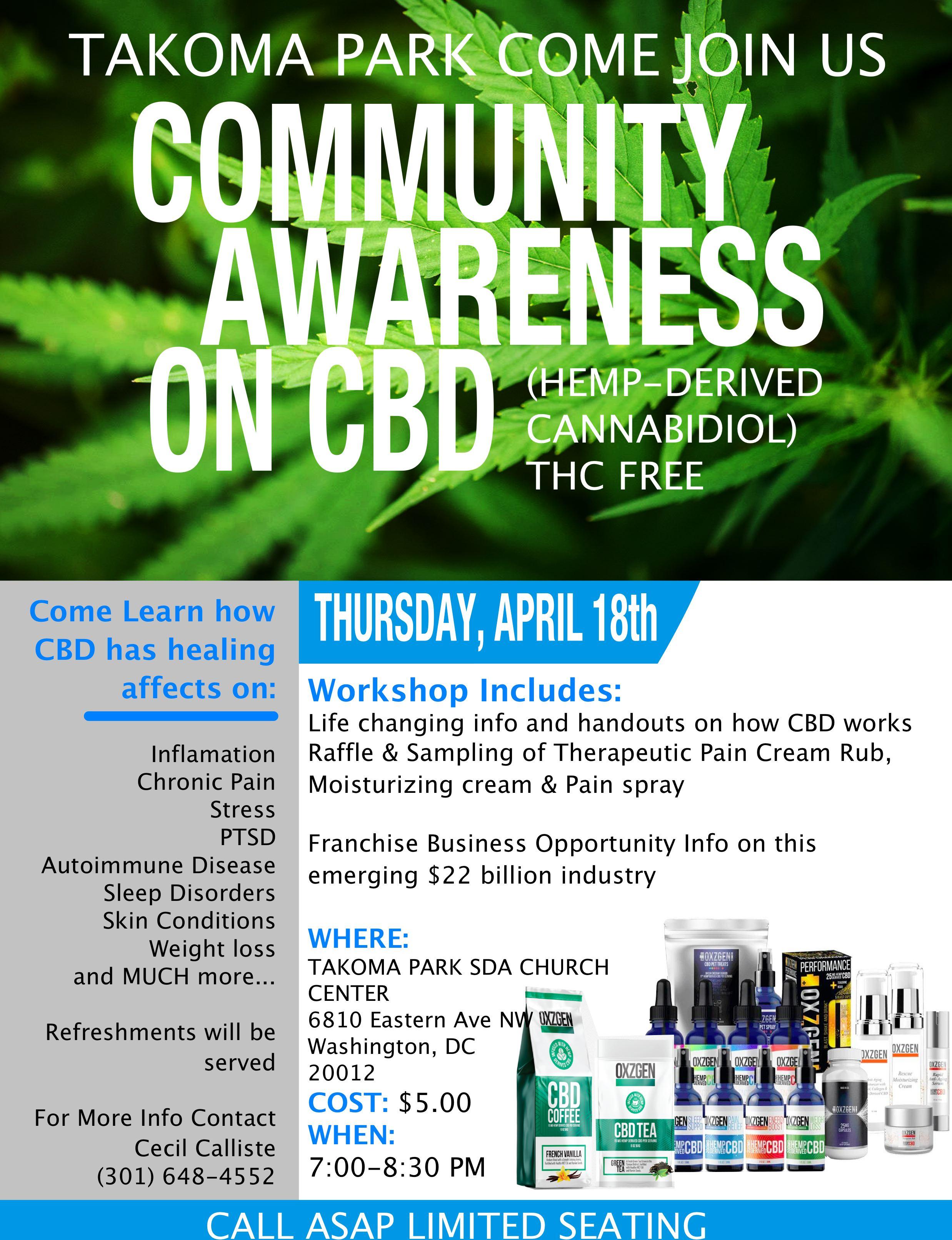 CBD Awareness Takoma Park