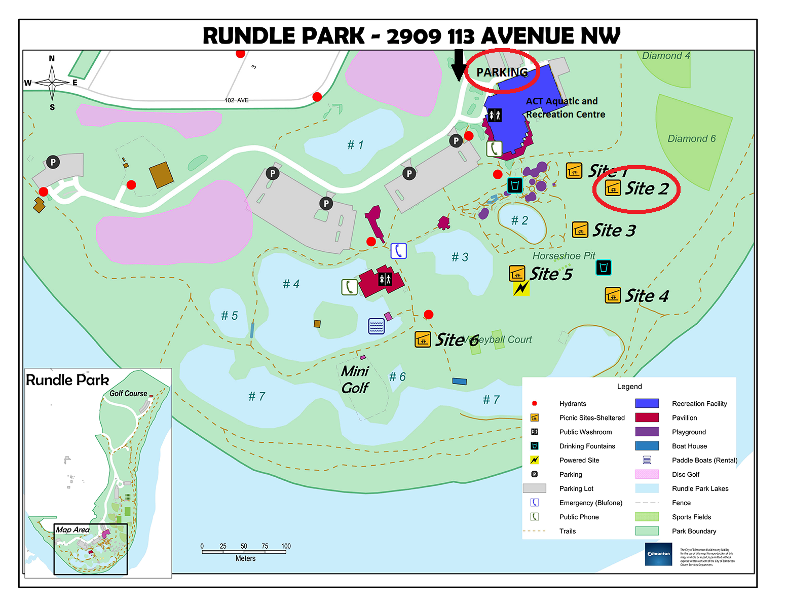 Rundle Park Site Map