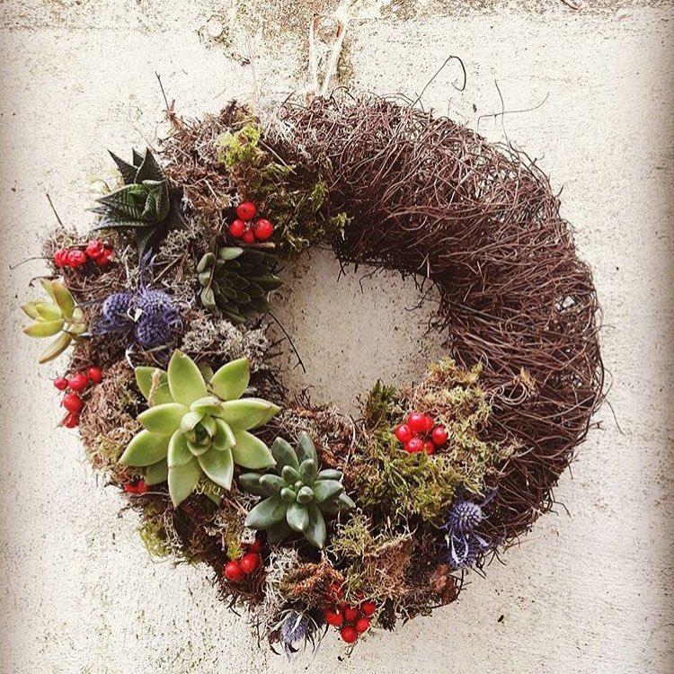 Hi Cacti Succulent Wreath