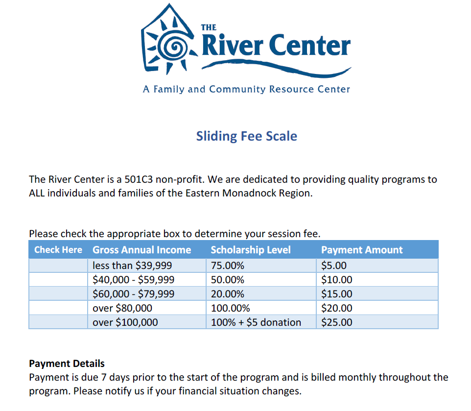 Sliding Fee Scale