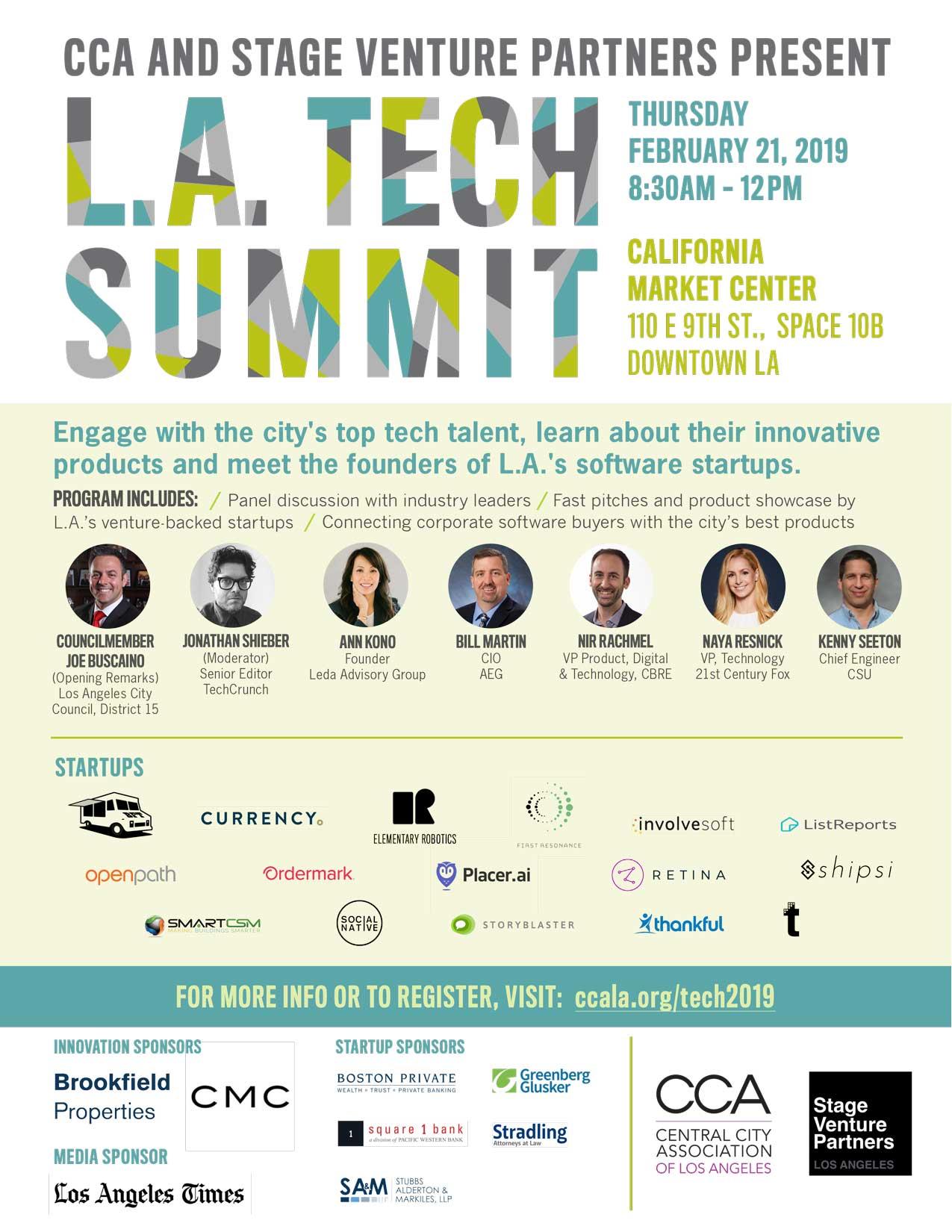 LA Tech Summit Flyer