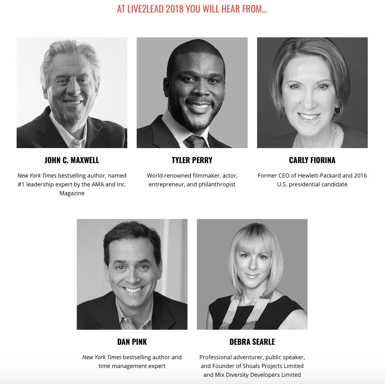 Live2Lead 2018 Speakers