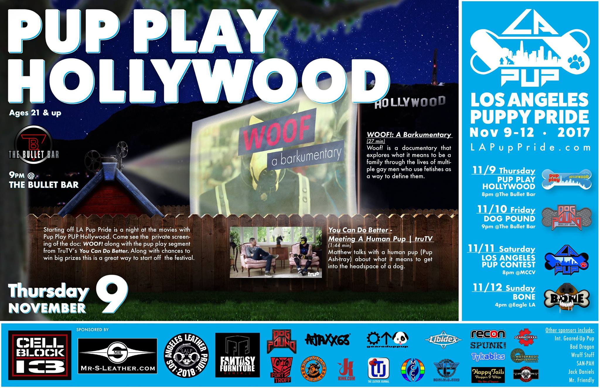 PUP PLAY HOLLYWOOD POSTER